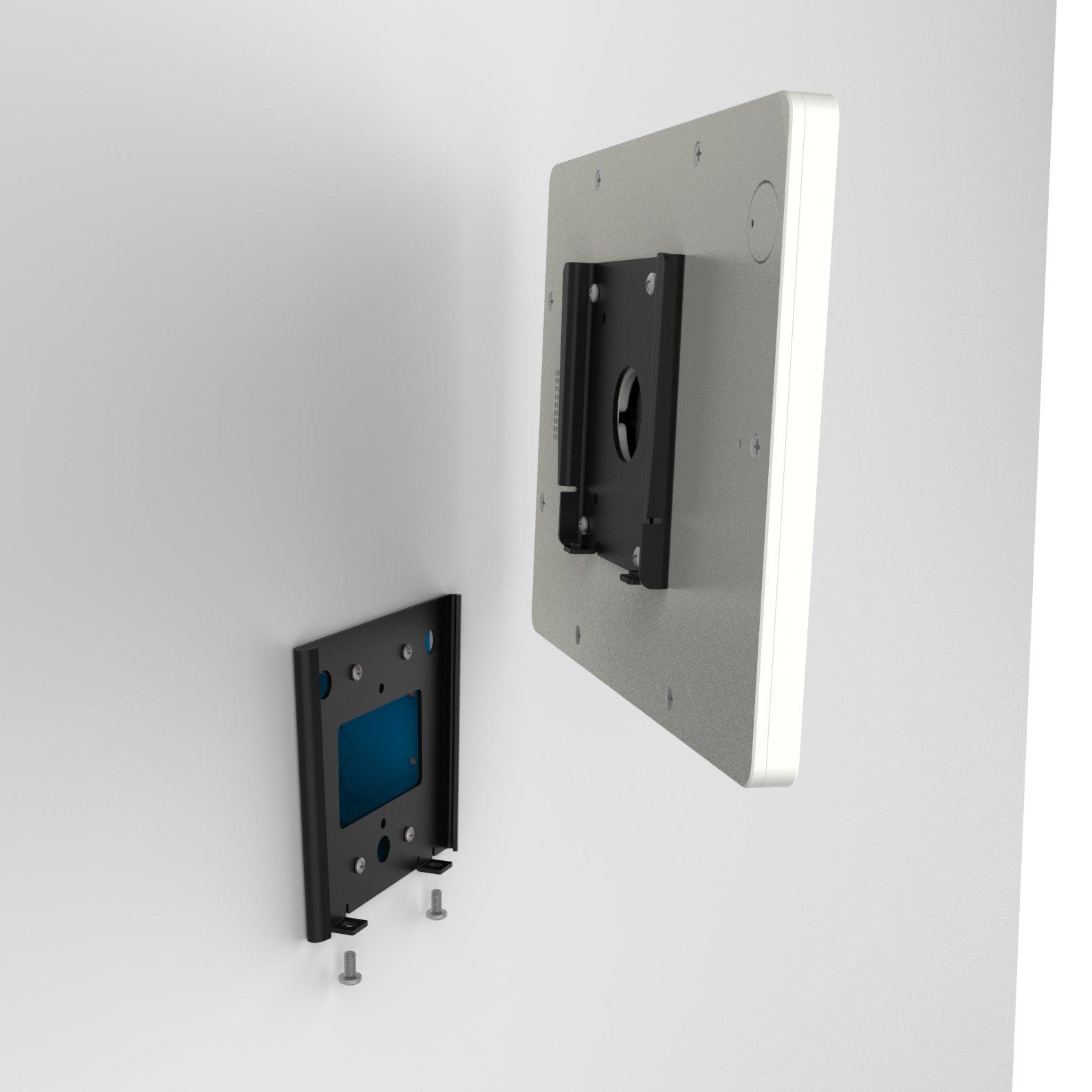 iPad (5th Gen) 9.7/Pro, Air 1/2 White Home Button Covered Fixed Slim VESA Wall Mount [Bundle] by VidaBox Kiosks (Image #5)