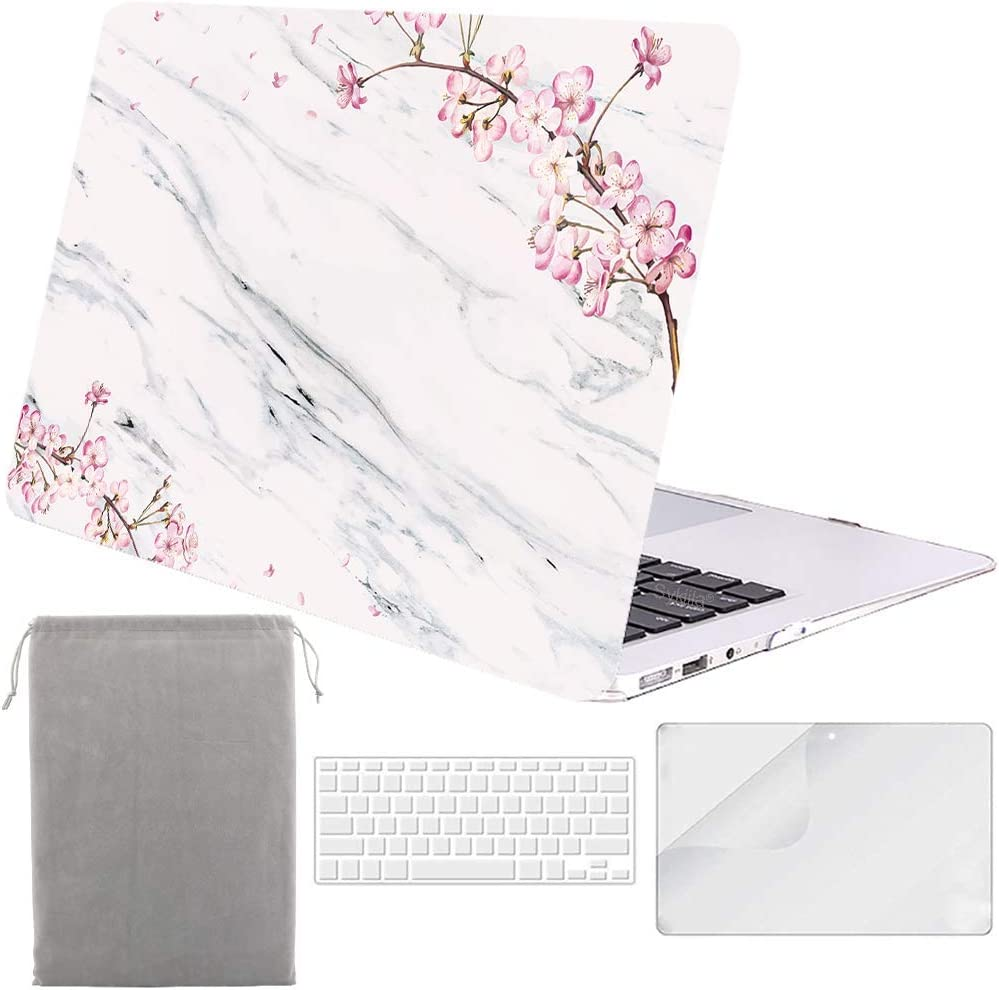 KBBHD Plastic Shell Case Cover Keyboard Cover Screen Protector Sleeve Only Compatible 2016-2019 Release MacBook Pro 13 inch with Touch Bar Touch ID A1706//A1708//A1989//A2159 4 in 1-SMC207-Flowers