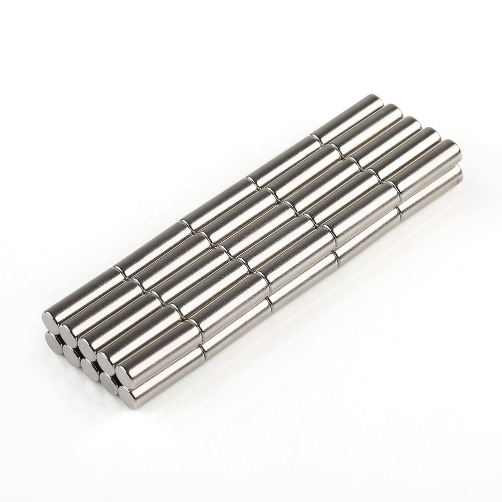 Round Cylinder Stainless Steel Magnets for Refrigerator,Arts & Crafts Projects,Whiteboard,Map 5x16mm 50pcs VERY100 N35D00230050