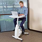 FLEXISPOT Desk Bike Stand up Folding Exercise Desk Cycle Height Adjustable Office Desk Stationary Exercise Bike - Deskcise Pro - 2018 CES Innovation Awards Almost Fully Assemble