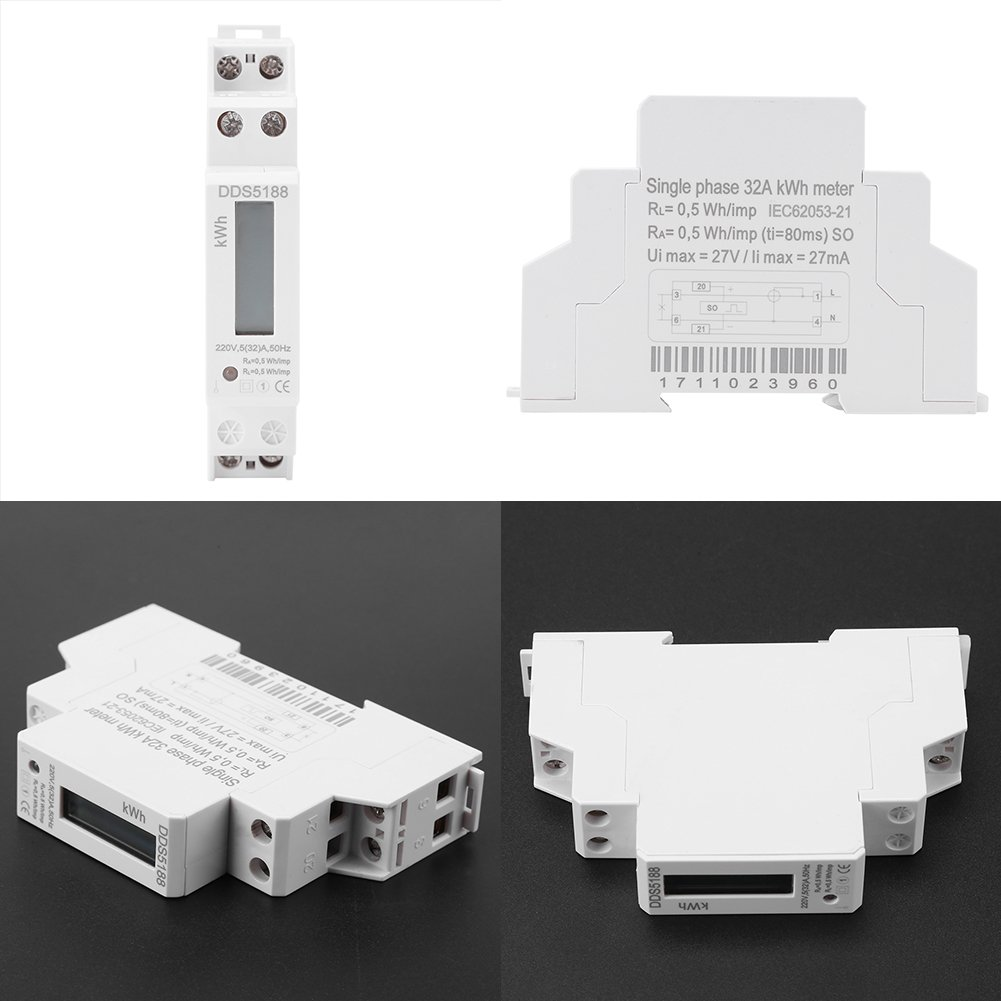 Walfront DDS5188 220 V, 5-30 A Contador de corriente digital con pantalla LCD