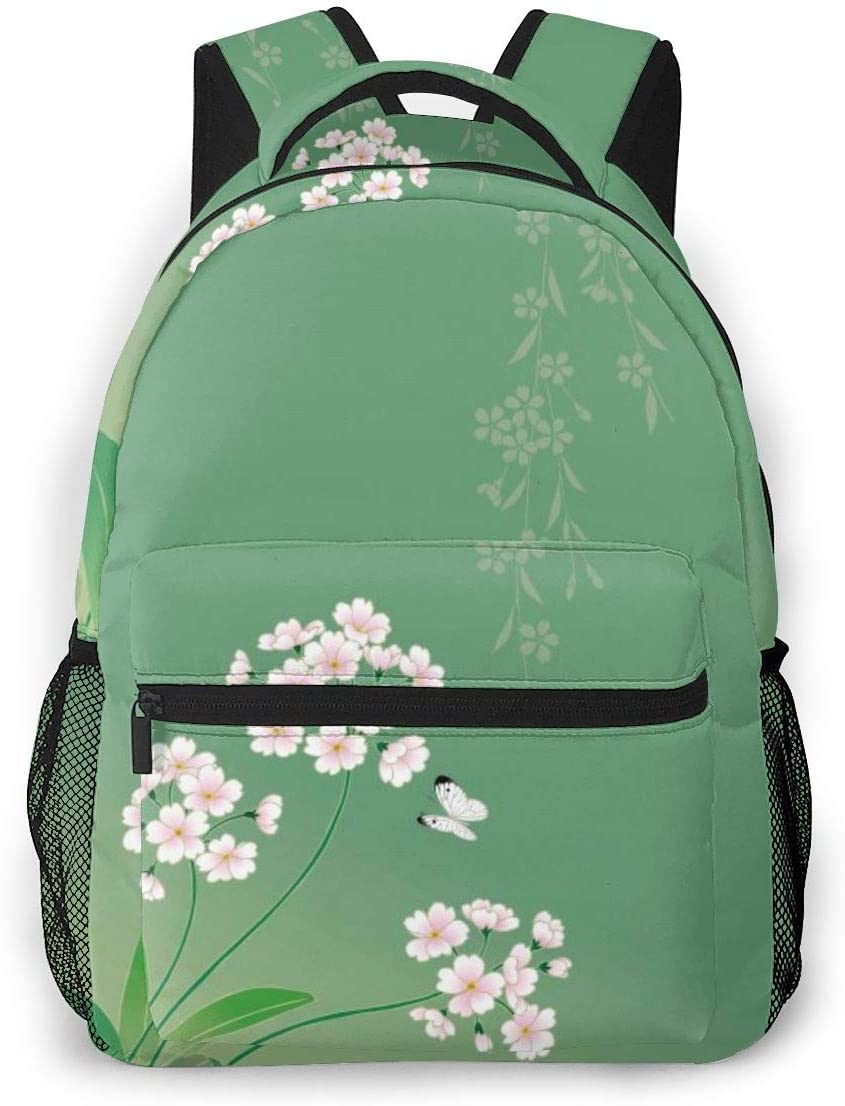 Colorful Butterfly Moth Floral School Bookbags Computer Daypack for Travel Hiking Camping Laptop Backpack Boys Grils