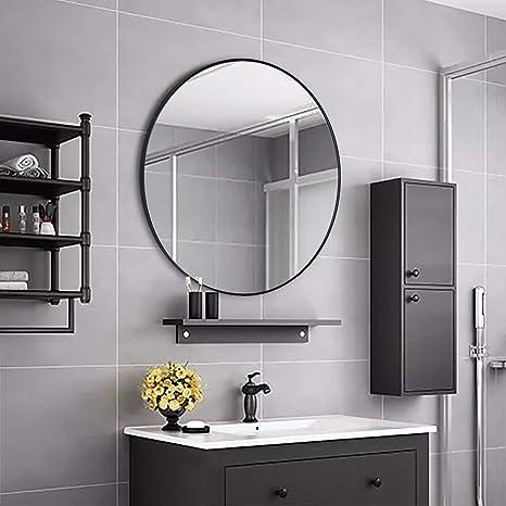 Simmer Stone Specchio rotondo da parete, con telaio in metallo ...