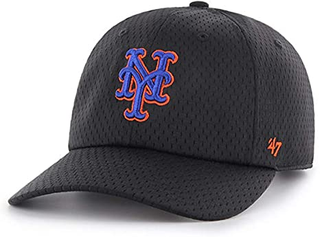 low priced a0350 95061 Image Unavailable. Image not available for. Color   47 Brand - Exclusive - MLB  New York Mets Black ThreePoint CleanUp ...