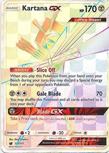 Pokemon Kartana GX HYPER SECRET RARE Crimson Invasion 117//111 NM M