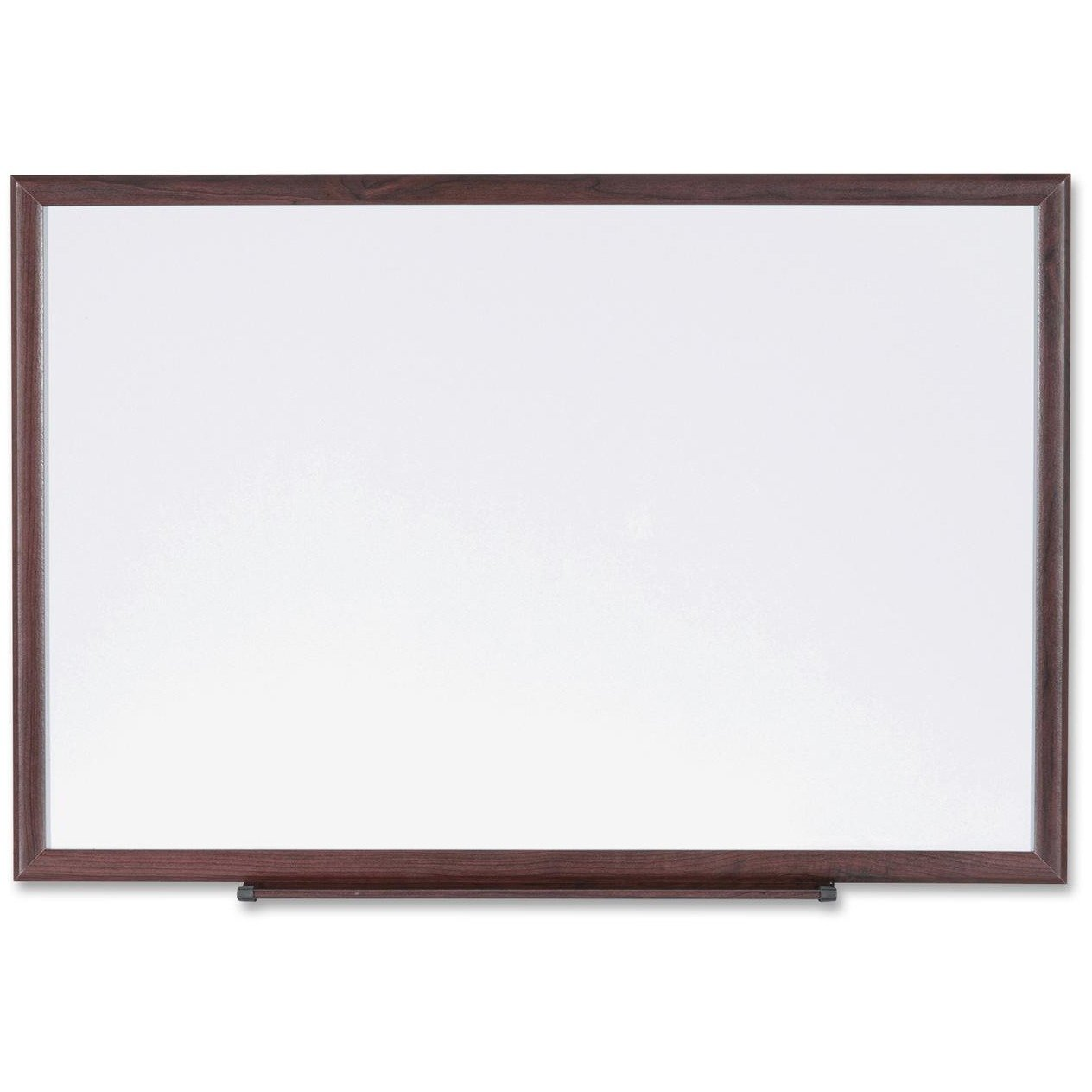 Lorell Wood Frame Dry-Erase Boards - 72'' Width x 48'' Height - White Melamine Surface - Wood Frame - Film - 1 Each