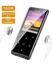 Lettore MP3, Lossless Sound Lettore MP3 Bluetooth 16GB, Supereye Mini Lettore MP3 portatile, Supporto Fino a 64GB, Cuffie Inclusi.