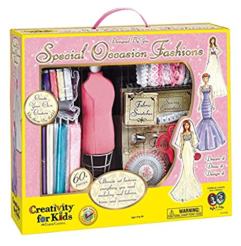 Creativity for Kids Designed by You Special Occasion Fashions, Dress Design Kit For Kids - Fashion Design Set