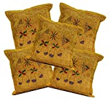 5Pcs-100Pcs Amazing India Dark Brown Jari Embroidered Work Home Decor Cushion Covers Wholesale Lot
