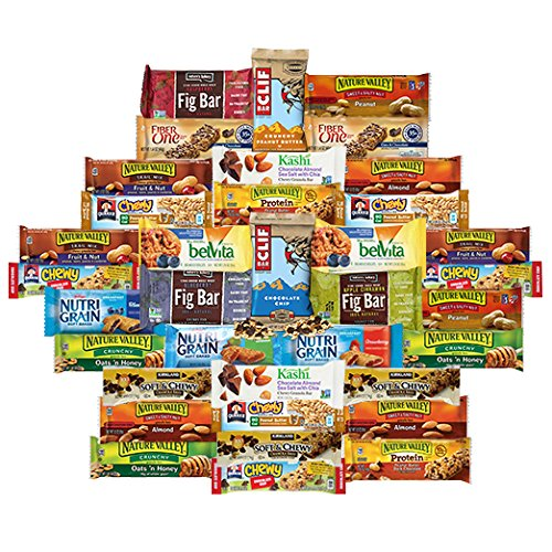 Healthy Office Snacks   Bars Variety Pack Assortment  Care Package 36 Count