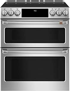 Ge Cafe CHS950P2MS1 30 Inch Induction Slide-in Electric Range in Stainless Steel
