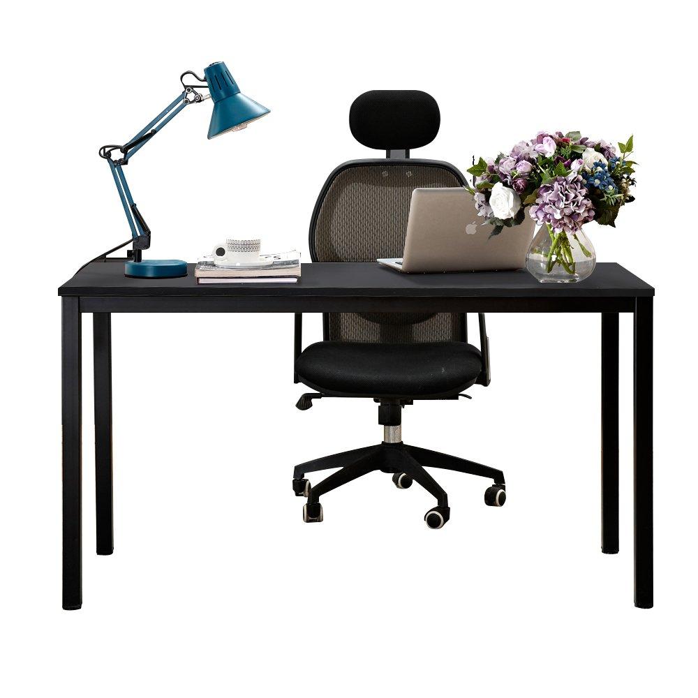 Need Schreibtisch 138x55cm Computertisch PC-Tisch Bürotisch Arbeitstisch Konferenztisch Esstisch Holz große Größe, Schwarz AC3CB-140-N