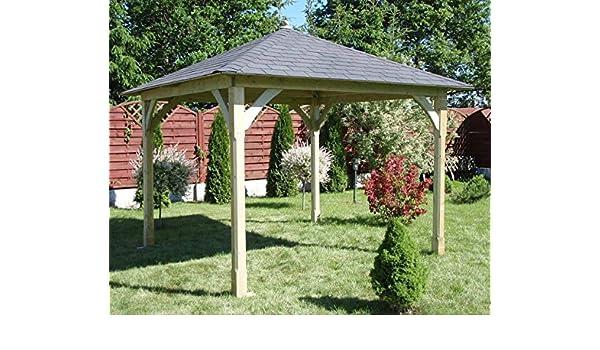 Jadrín Verde - Pérgola cenador de madera Cotswold con techo de ...