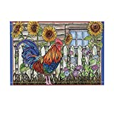 NYMB Inbetweening Picture Decor, Village Farm Chicken and Sunflowers Bath Rugs, Non-Slip Doormat Floor Entryways Outdoor Indoor Front Door Mat, Kids Bath Mat, 15.7x23.16in, Bathroom Accessories