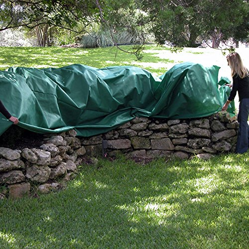 Planket Plant Frost Protection Cover Kit, 10 ft x 20 ft Planket + 14 Landscape Stakes