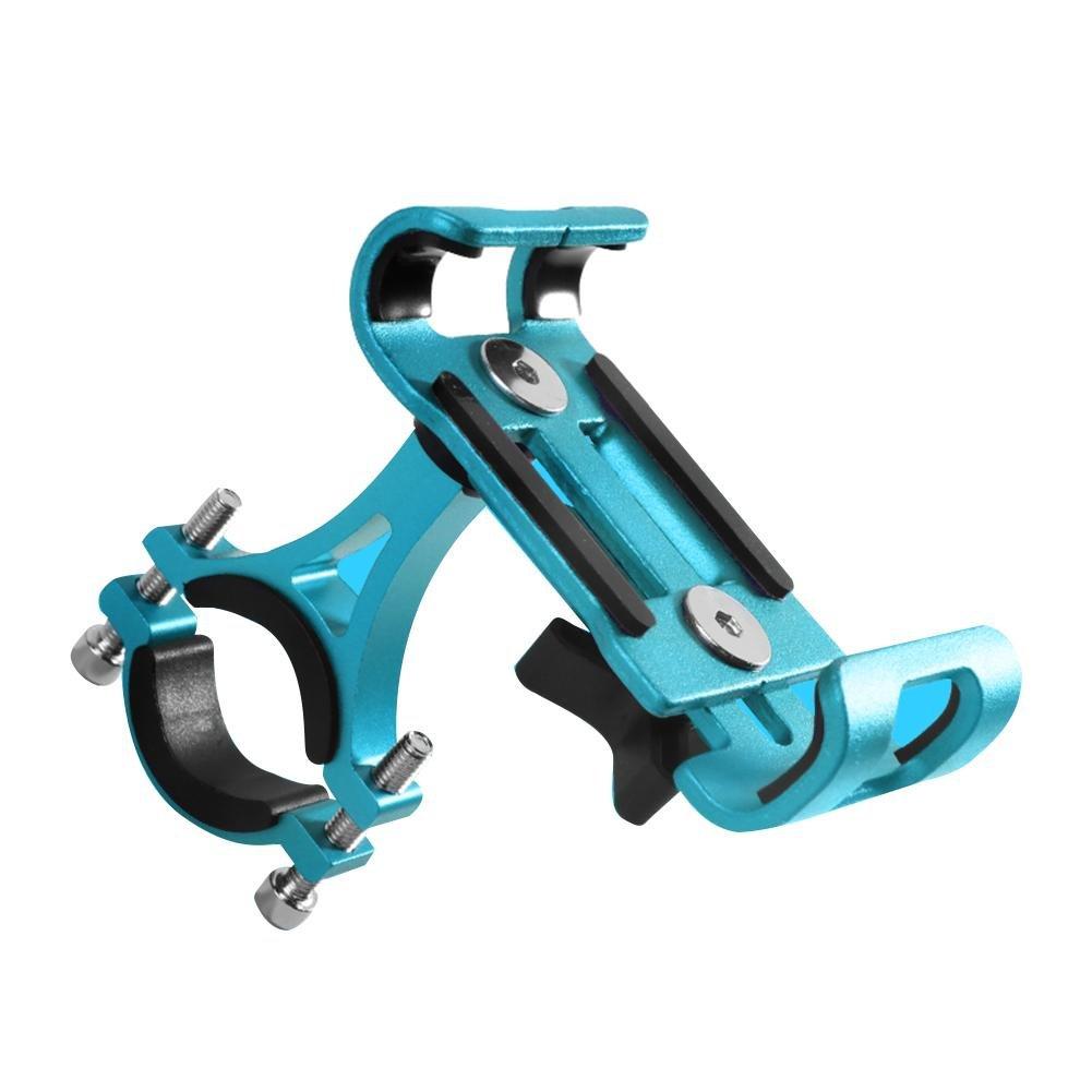 Fahrrad Handyhalterung Motorrad Handy-Halter Handy GPS Halter 360° Rotation Lenkerhalter Aluminium-Legierung Silikon Universal Verstellbare, Material: Aluminiumlegierung Somedays