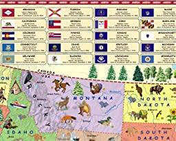 Illustrated map of the US for kids (Laminated Children\'s Wall Map of the US for Kids) [Map])