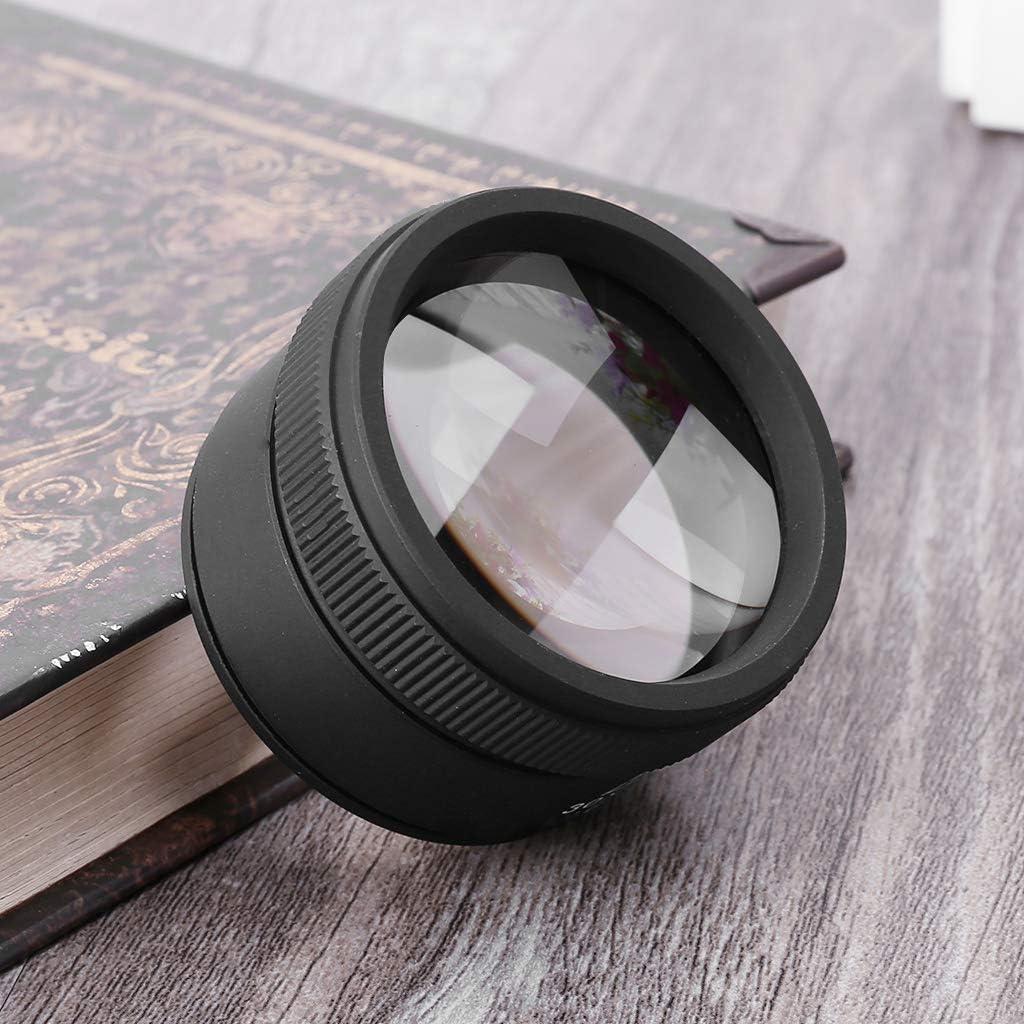 HUIJUAN 30 /× 40 optique loupe loupe en m/étal bijoutier pi/èces de monnaie timbres loupe lentille en verre