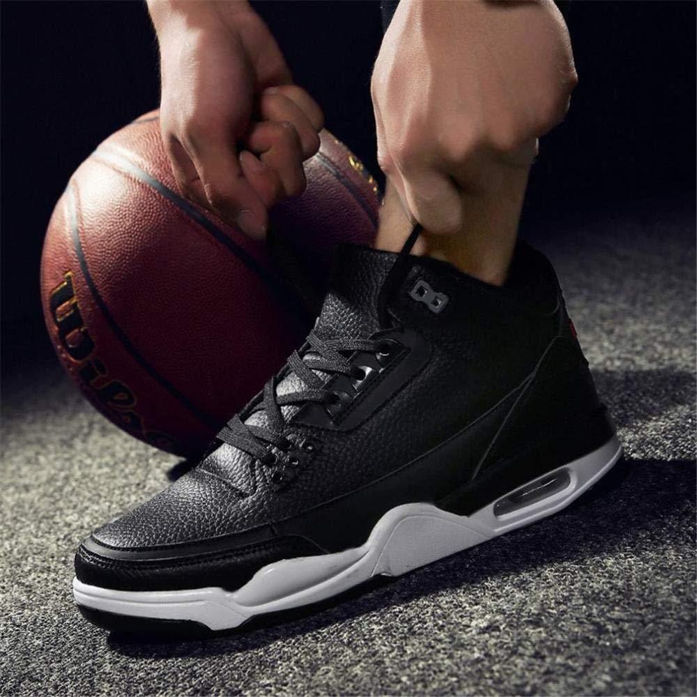 Z&J Herren-Basketball-Schuhe, Frühling Herbst, Outdoor-Sportschuhe, Hohe Turnschuhe, Komfort-Laufschuhe, Wanderschuhe Wanderschuhe Wanderschuhe Lässige Wanderschuhe (Farbe  B, Größe  47)  a0e2d4