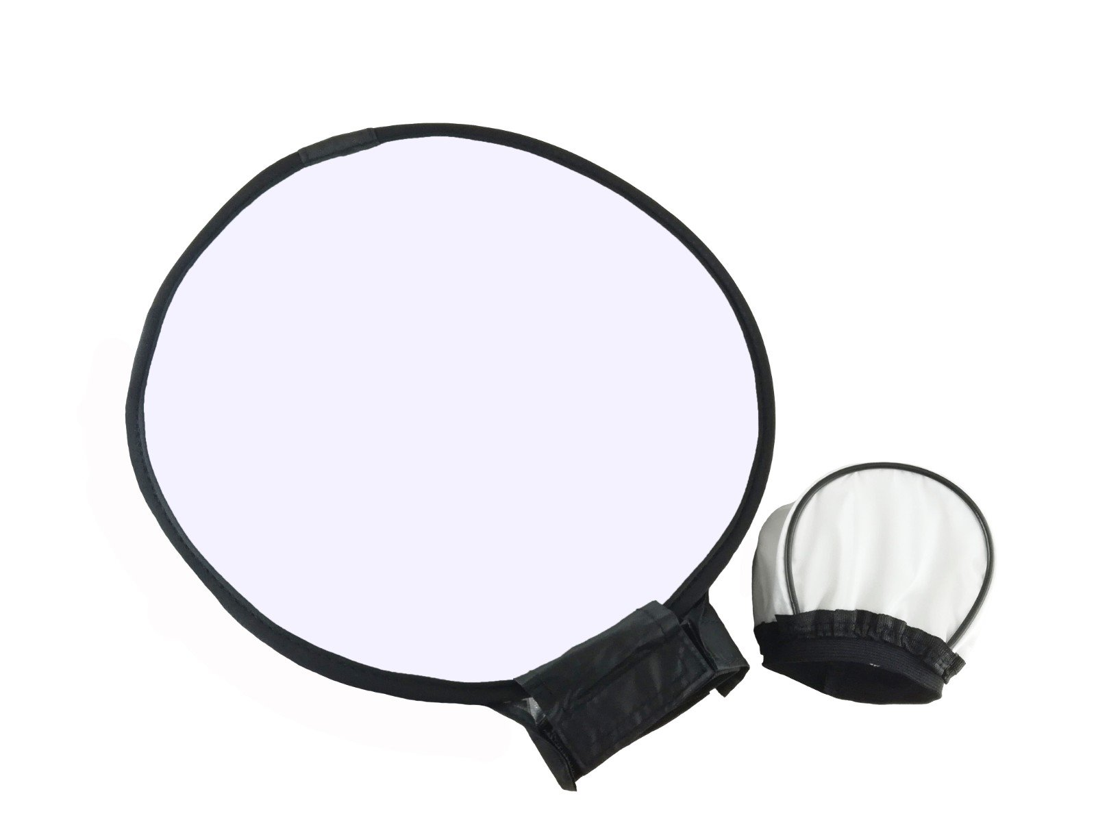 EXMAX 11.8inches/30cm Collapsible Round Softbox Diffuser with a carring bag and 3.5x2.4inches Universal Soft Mini Bounce Diffuser Cap for Canon Nikon Sony Yongnuo Speedlight