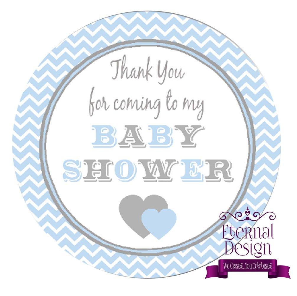 Eternal Design 15 x 50mm Baby Shower White Stickers BSCS 1