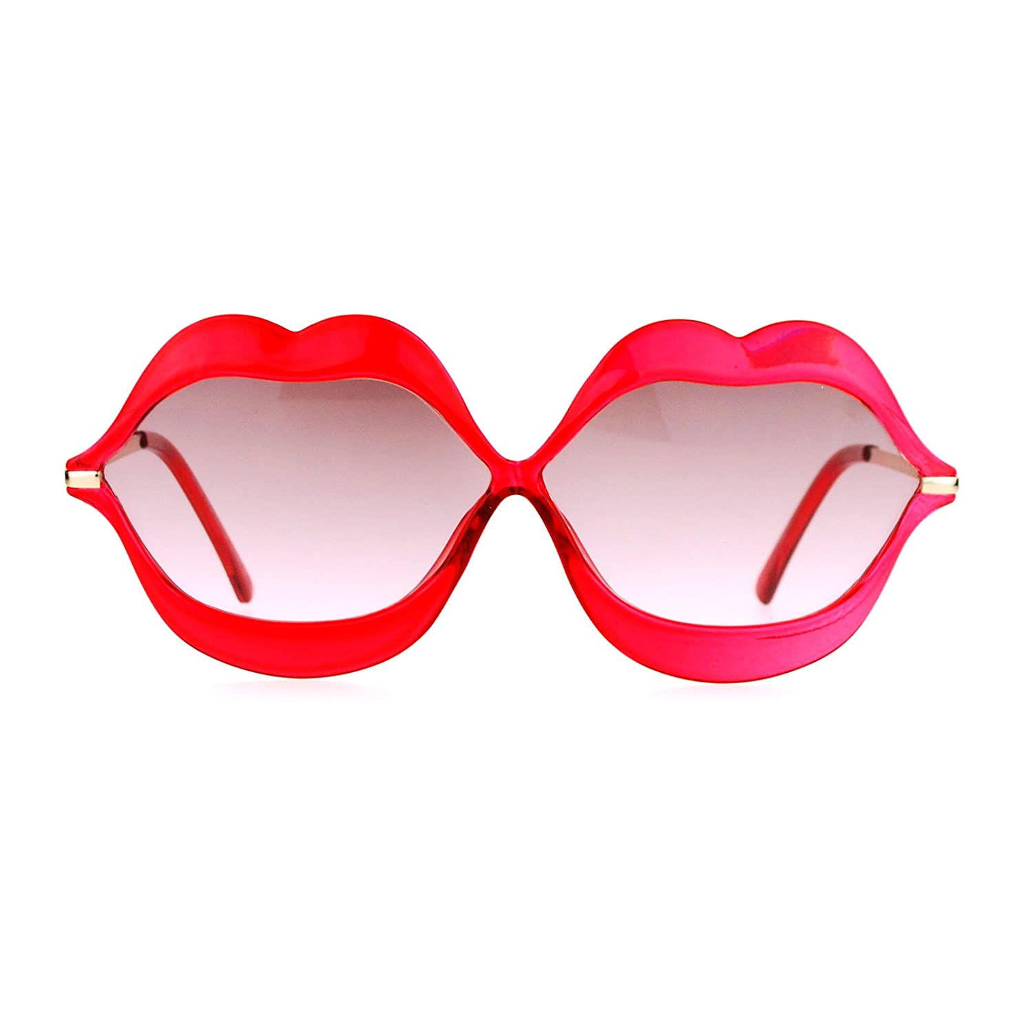 SA106 Love Lip Shape Kiss Womens Sunglasses ss6997cry-bge
