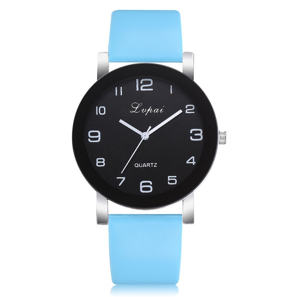 Women's Analog Watch,Women's Casual Quartz Leather Band Watch Analog Wrist Watch,Women's Contemporary Designer Watches,Sky Blue