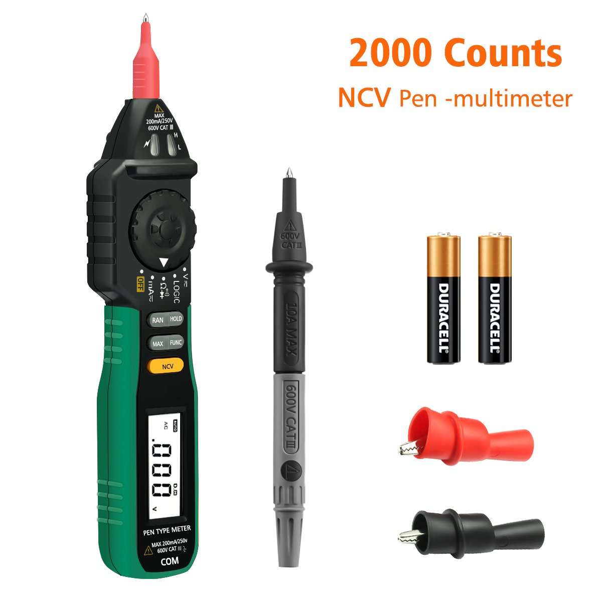Digital Multimeter, LIUMY Pocket size Pen Multimeter with NCV and Auto Ranging, AC DC Voltage Tester, Electrical Tester, Current/ Diode/ Continuity/ Logic