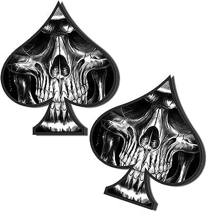 Skino 2 x Pegatinas Vinilo Adhesivos Skull Calavera Espadas para ...