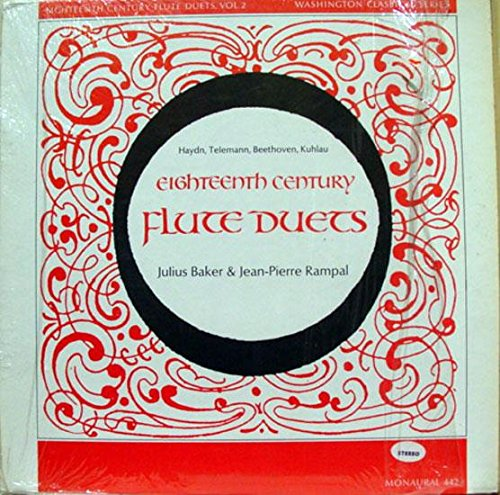BAKER & RAMPAL EIGHTEENTH CENTURY FLUTE DUETS vinyl record