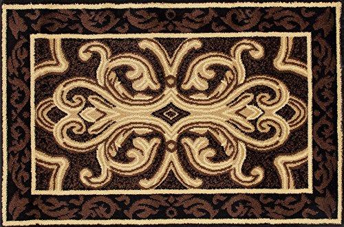 Art Carpet 841864119268 Hearth Rugs Collection, 2' x 3', Brown/Black - Art Com Fireplace