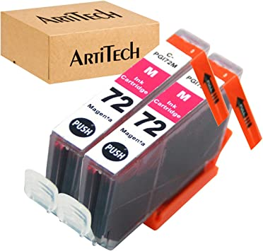 MS Imaging Supply Compatible Inkjet Cartridge Replacement for Canon PGI-72R Red, 2 Pack