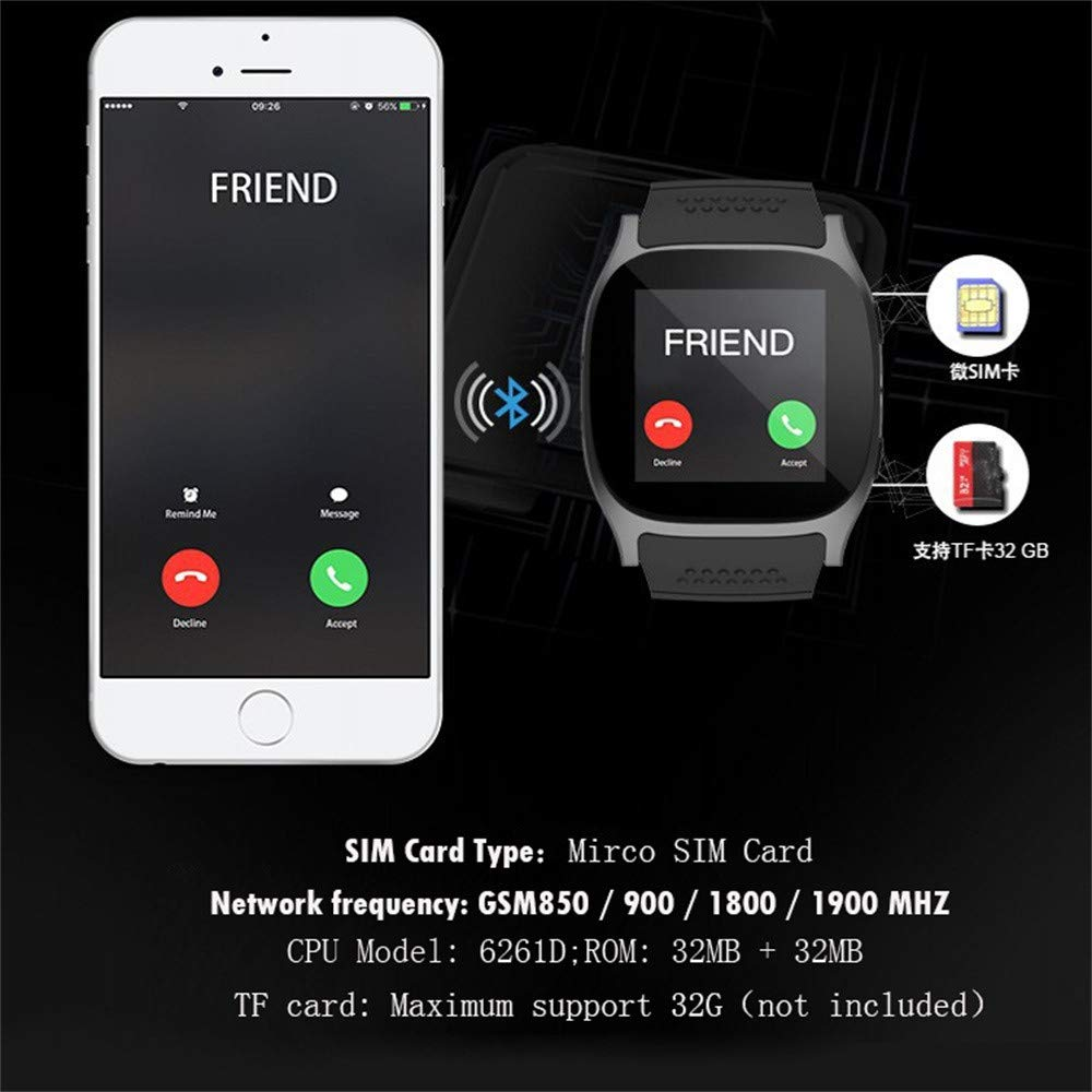 Amazon.com: WoCoo SmartWatch Bluetooth T8 Fitness Tracker Support SIM and TF Card Camera Compatible for Android iPhone: Kitchen & Dining