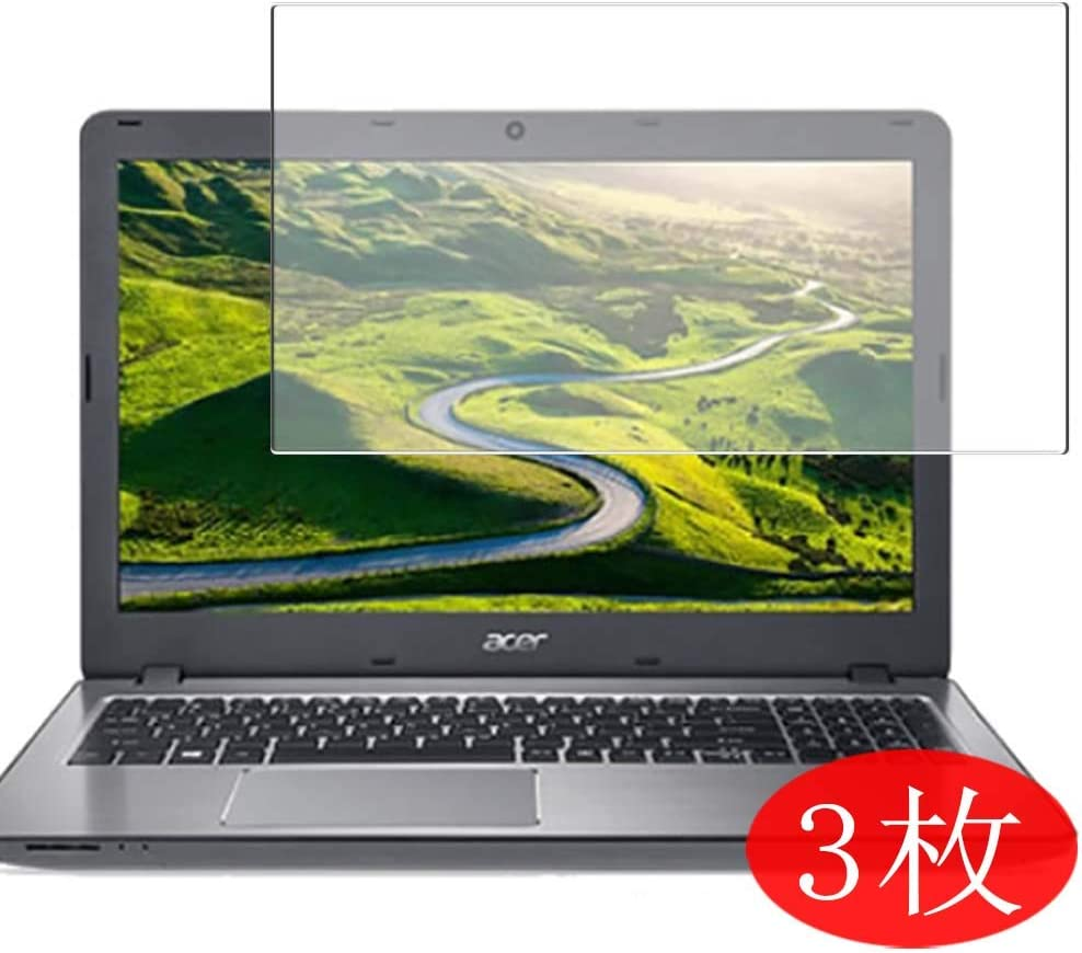 """【3 Pack】 Synvy Screen Protector for Acer Aspire F Series F5-573-H78G / S 15.6"""" TPU Flexible HD Clear Case-Friendly Film Protective Protectors [Not Tempered Glass] New Version"""