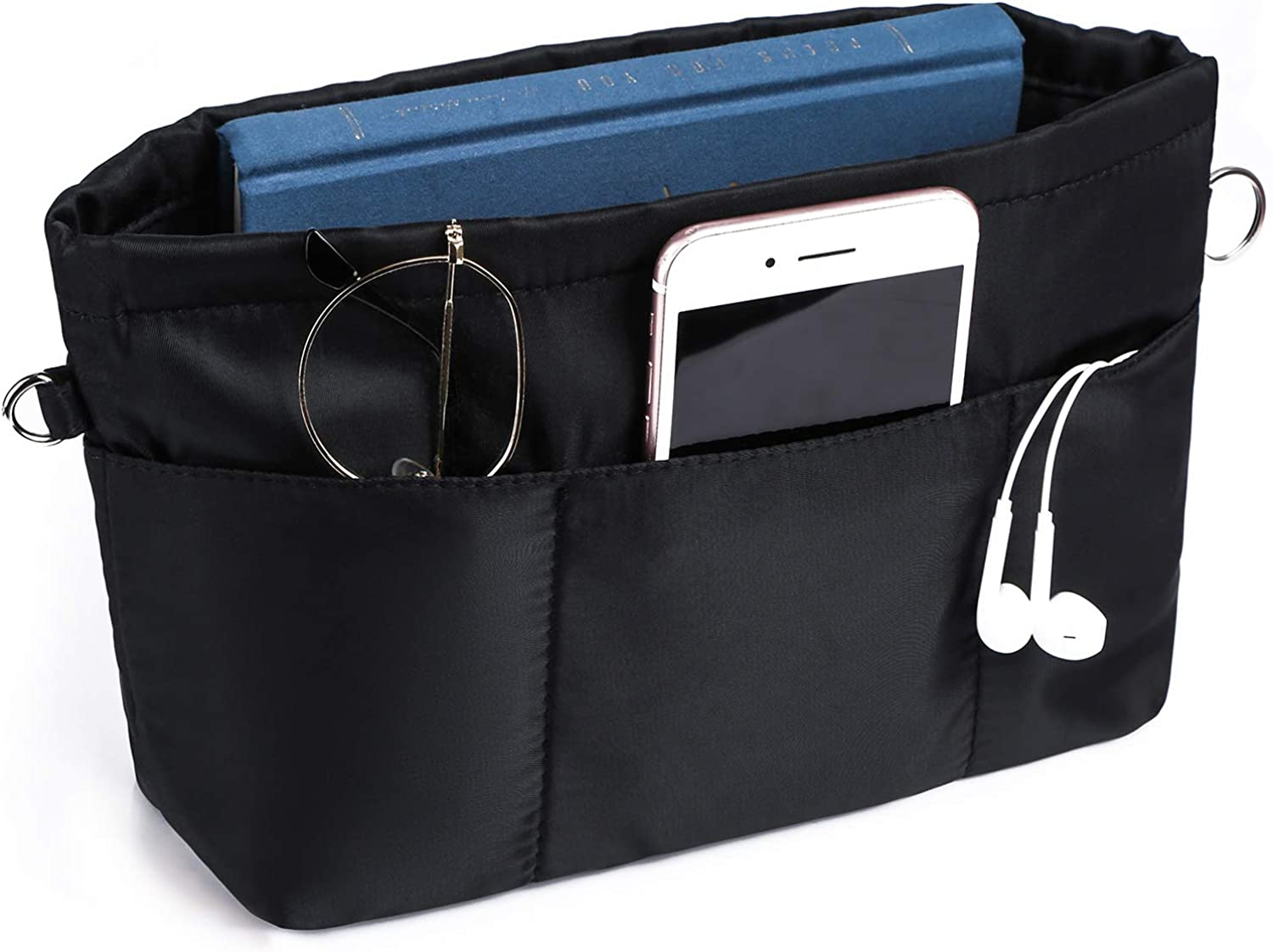 VANCORE Purse Organizer Insert with 13 Pockets, Tote Handbag Insert with Zipper