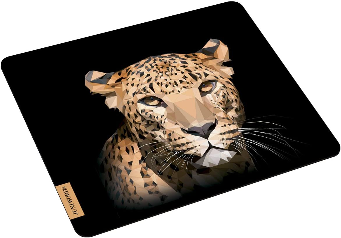 Juniwords Mousepad Mauspad Mit Motiv Gepard Low Poly Schwarz Bürobedarf Schreibwaren