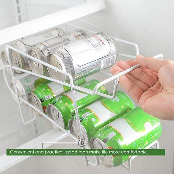 Refrigerador Organizador para Herramientas de Cocina Hogar Cocina Rack de almacenamiento Rack de doble capa Escritorio Rack de almacenamiento Enfriador ...