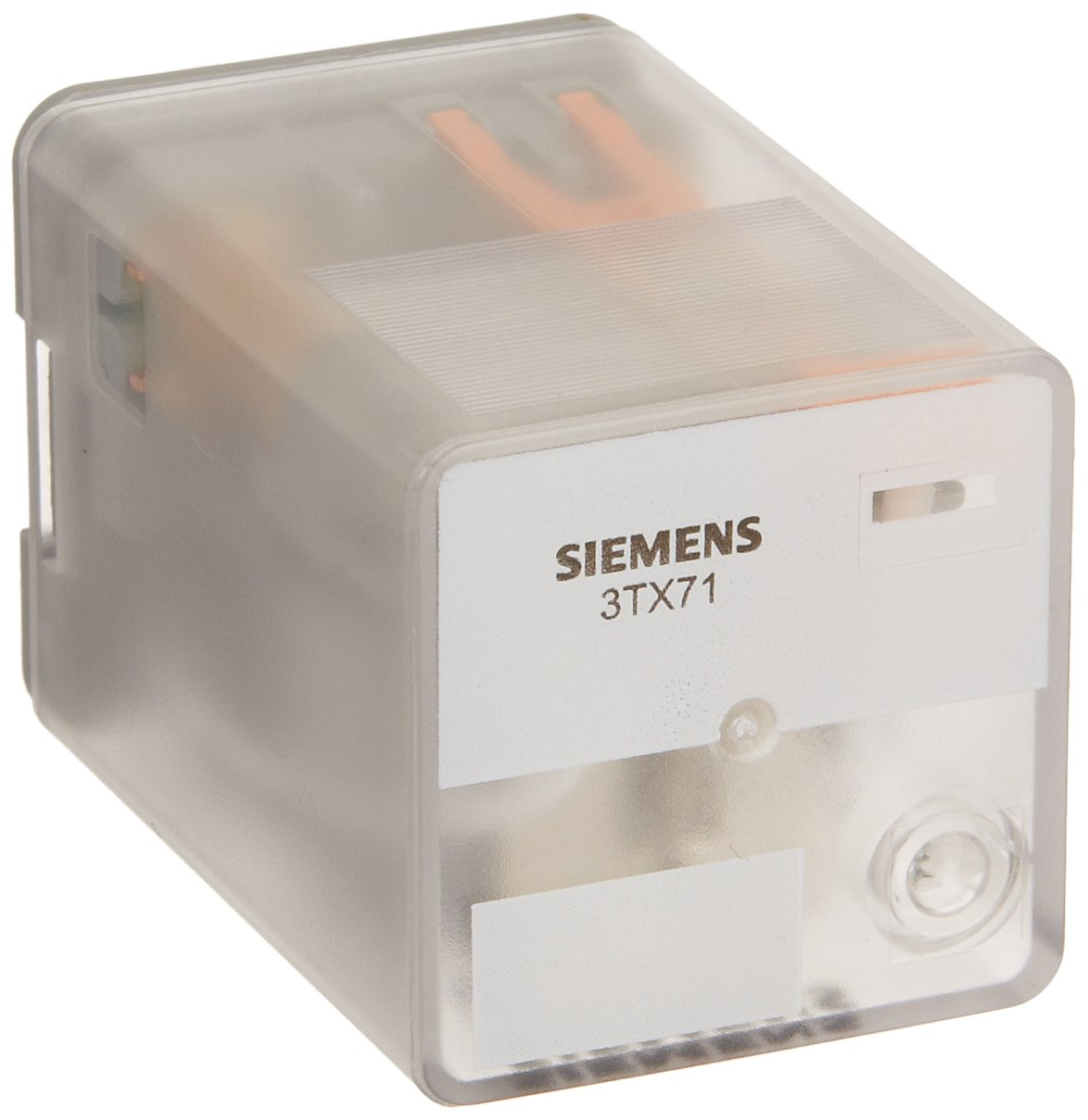 Siemens 3TX7112-1DF13C Basic Plug In Relay, Standard Octal Base, Mechanical Flag, DPDT Contacts, 16A Contact Rating, 120VAC Coil Voltage