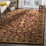 Safavieh Antiquities Collection AT52B Handmade Traditional Oriental Wine and Gold Wool Area Rug (9'6'' x 13'6'')