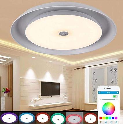 GAOLIQIN Luz de Techo LED con Altavoz Bluetooth 90-265V ...