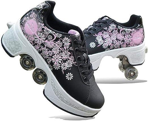 MLyzhe Four-Wheeled Roller Shoes Female