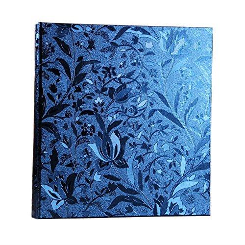 Xerhnan - Álbum de fotos (piel, 600 bolsillos, 4 x 6 fotos, color azul)