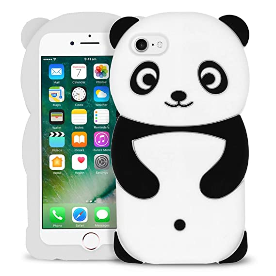 sports shoes 99dc1 8d786 BEFOSSON 3D Cartoon Animal iPhone 7 / iPhone 8 Case for Girls, Cute Panda  Soft Silicone Stylish Shock-Proof Protective Phone Skin Cover Case for ...