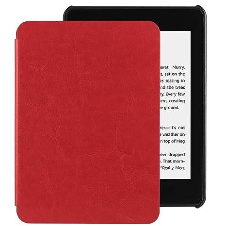 EasyAcc Funda para Kindle Paperwhite 2018 Ligera con Función de Auto-Sueño/Estela para Kindle Paperwhite 2018 de 10ª generación, Rojo
