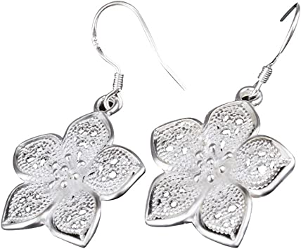 NEW.. A PAIR OF TIBETAN SILVER HEART EARRINGS WITH 925 SOLID SILVER HOOKS