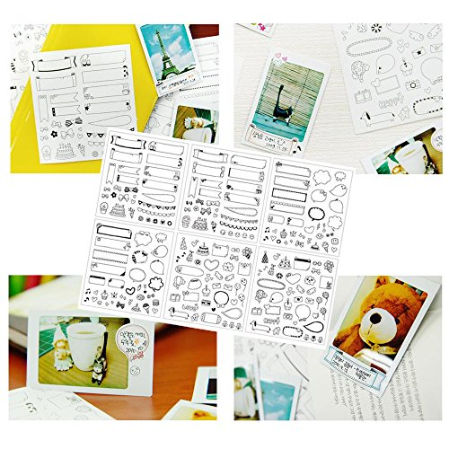Accessories for Fujifilm Instax Mini 9, 12 in 1 Bundles Set for Mini 9, included Camera Case/Album Book/Close-up Lens/4 Color Filter/3-Inch Photo Frame/Colorful DIY Film Stickers(Flamingo Pink) by MAEKIJOY (Image #3)