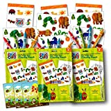 World of Eric Carle Coloring Pack Party Favors with Stickers, Crayons and Coloring Activity Book in a Resealable Pouch ~ Plus Separately Licensed 3X3 Inch Reward Prize Stickers Included