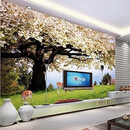 Mbwlkj Personnalise Maison 3d Salon Decoration Cerisier Cerf