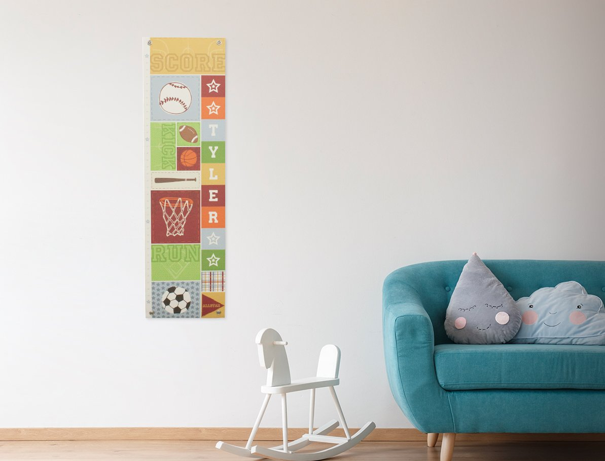 Personalized Growth Chart Ruler Sports Nursery Décor by I See Me!