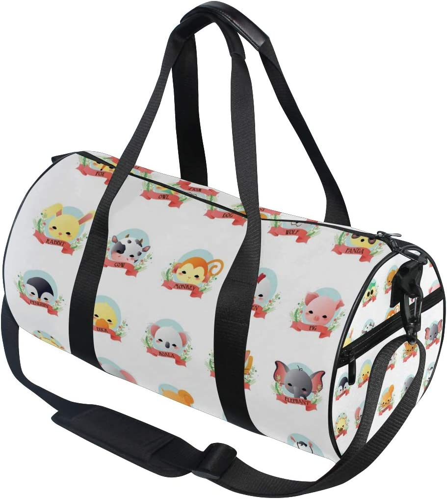 Duffel Bag Animal Collection Women Garment Gym Tote Bag Best Sports Bag for Boys